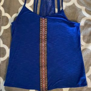 Maurices blue tank